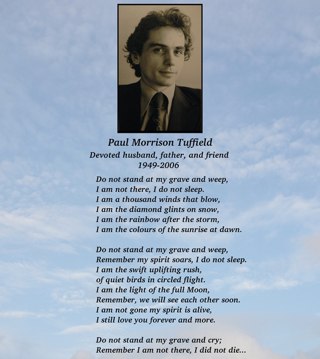 An ode to Paul Morrison Tuffield